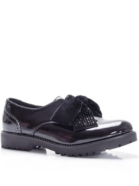 Pantofi Oxford Dama Cu Fundita Negrii
