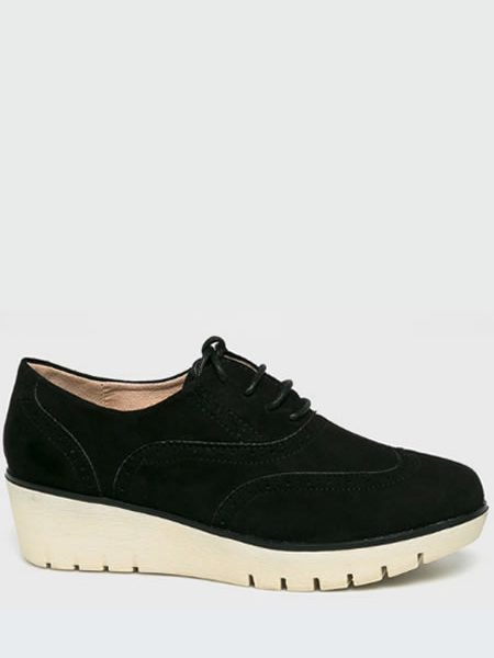 Pantofi Oxford Dama Cu Platforma Negri