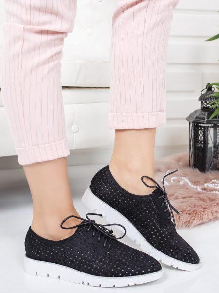 Pantofi Oxford Dama Cu Talpa Groasa