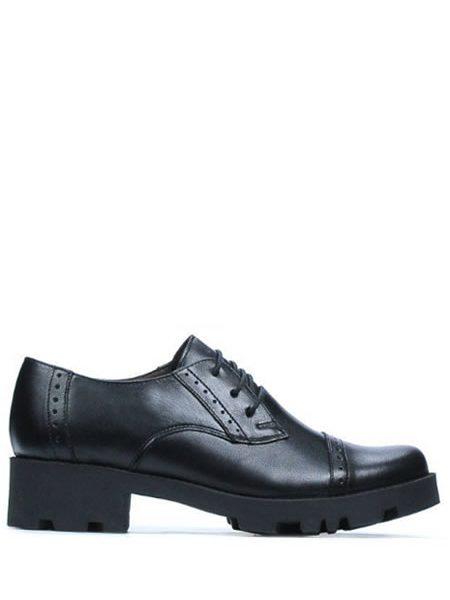 Pantofi Oxford Dama Piele Cu Toc