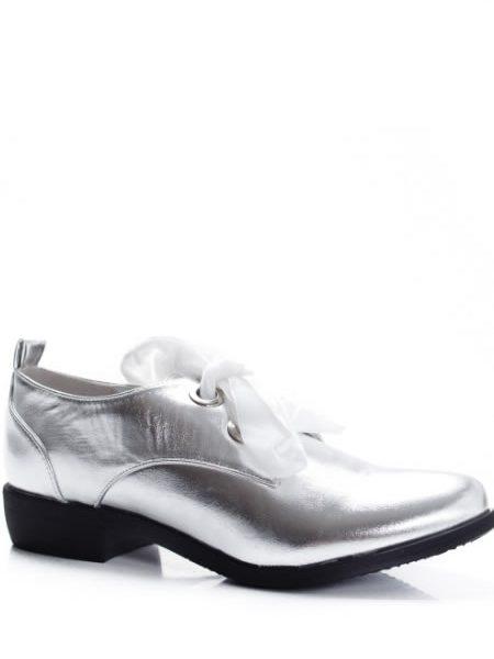 Pantofi Oxford Dama Reducere Argintii