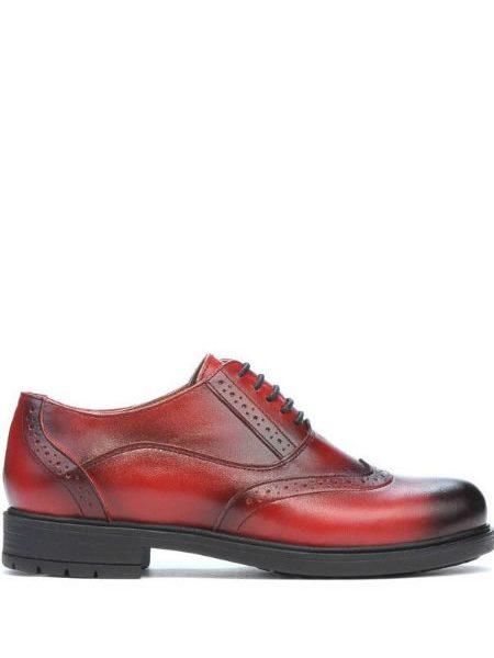 Pantofi Oxford Dama Rosii Din Piele Ieftini