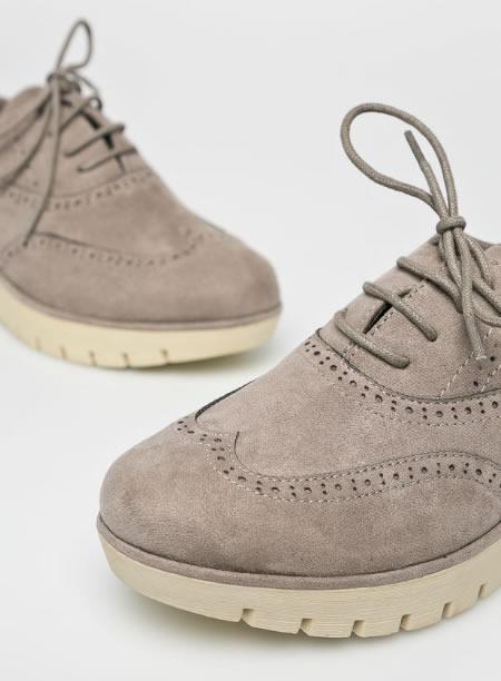 multe la modă fotografii oficiale magazin Pantofi dama OXFORD cu platforma ortopedica senila