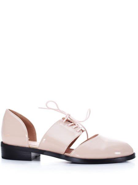 Pantofi Tip Oxford Dama Bej