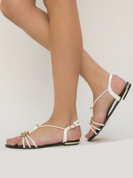 Sandale Albe Ieftine De Vara