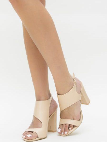 Sandale Casual Cu Toc Gros Inalt