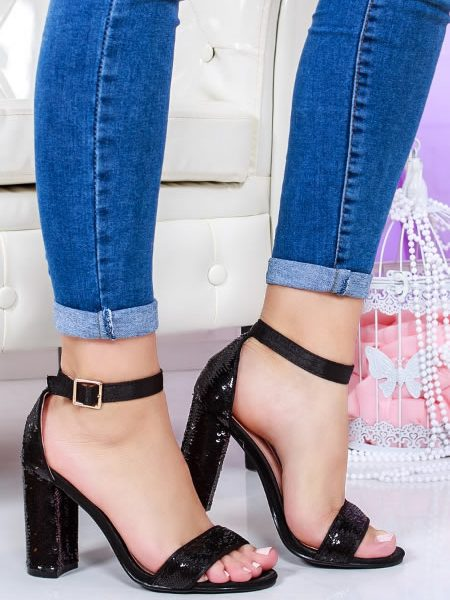 Sandale Cu Paiete