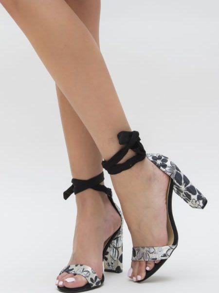 Sandale Cu Snur Si Toc Gros