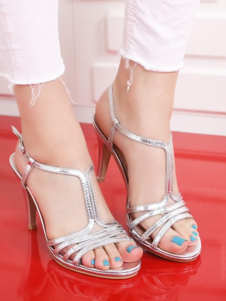 Sandale Cu Toc Elegante Dama