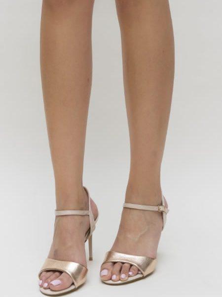 Sandale Cu Toc Elegante Ieftine Bej