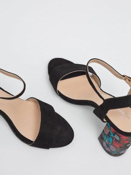 Sandale Cu Toc Gros Dama Retro