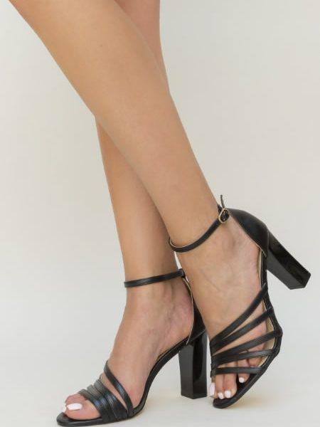 Sandale Cu Toc Gros Elegante Ieftine