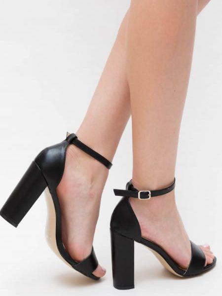 Sandale Cu Toc Gros Inalt
