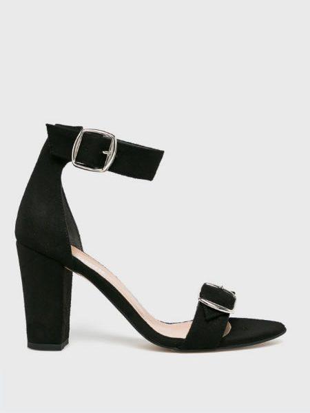 Sandale Cu Toc Gros Si Catarama