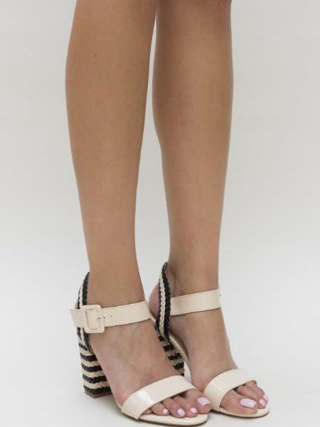 Sandale Cu Toc Gros Si Inalt