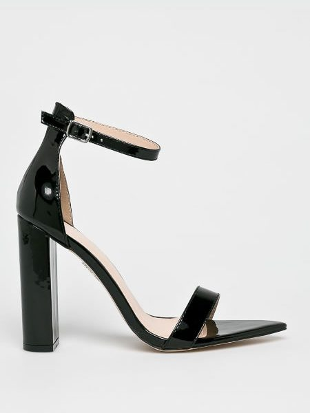 Sandale Cu Toc Gros Si Varf Ascutit