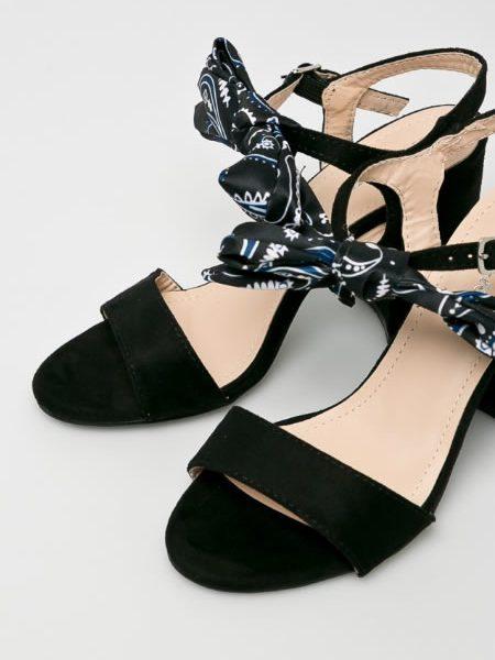 Sandale Cu Toc Gros Vara Casual