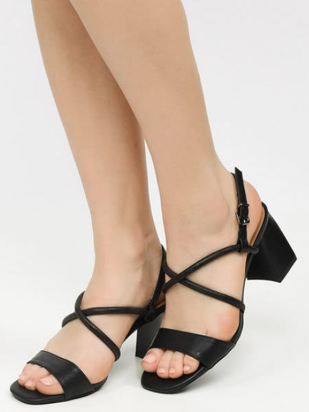 Sandale Cu Toc Patrat Mic