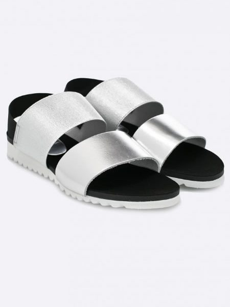Sandale Dama Argintii Fara Toc
