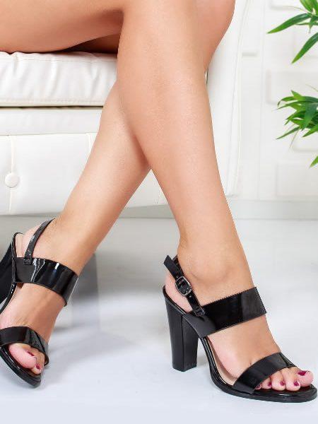 Sandale Dama De Zi Cu Toc Gros Inalt
