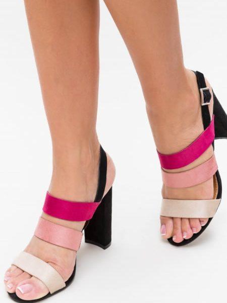 Sandale De Vara Cu Toc Gros