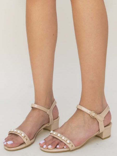 Sandale Elegante Cu Toc Mic