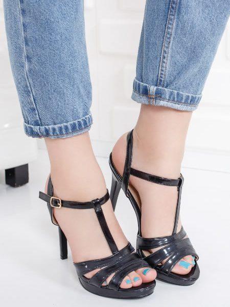 Sandale Elegante Cu Toc Si Platforma Joasa
