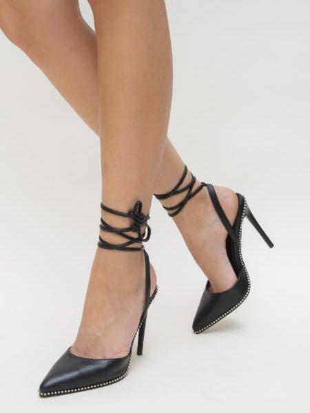Sandale Elegante Cu Varf Ascutit Negre