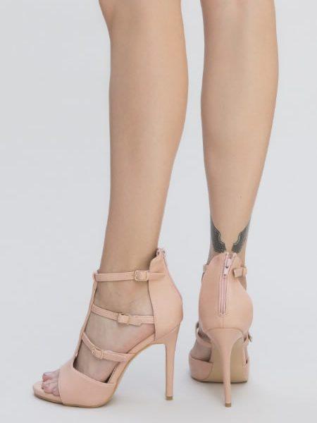 Sandale Elegante De Seara Cu Toc Inalt