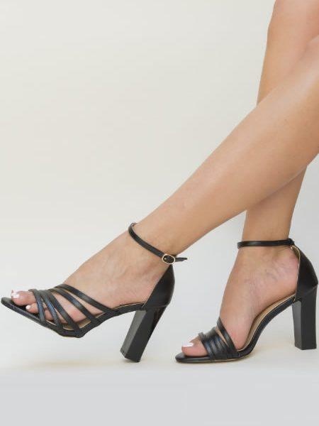 Sandale Ieftine Cu Toc Gros Elegante