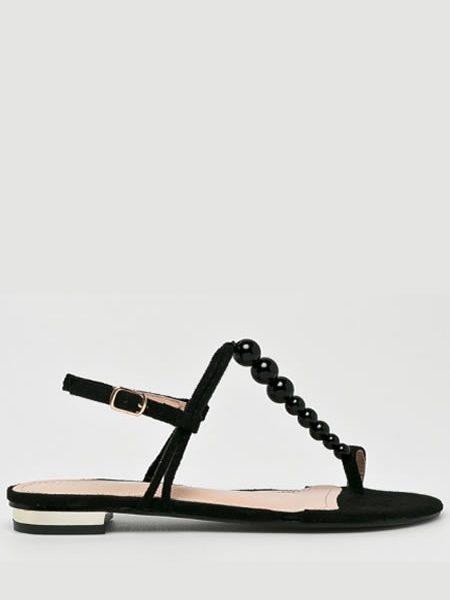 Sandale Negre Cu Margele