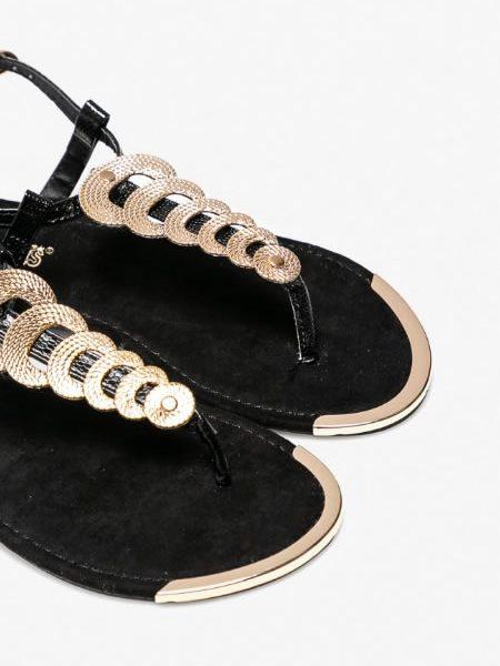 Sandale Negre Elegante Seara Fara Toc