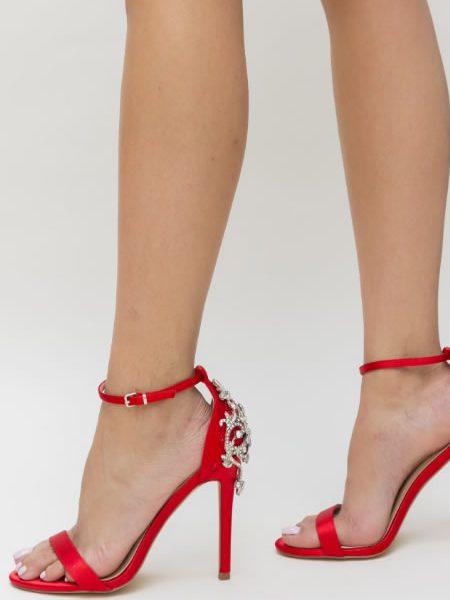 Sandale Nunta Cu Toc Rosii