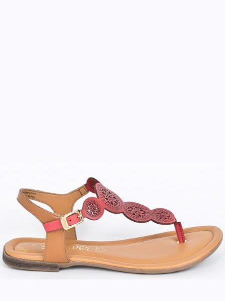 Sandale Piele Perforata