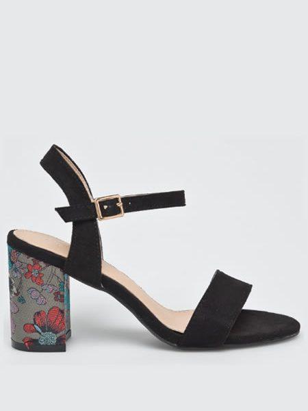 Sandale Retro Cu Toc Gros