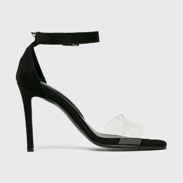 Sandale Transparente Negre