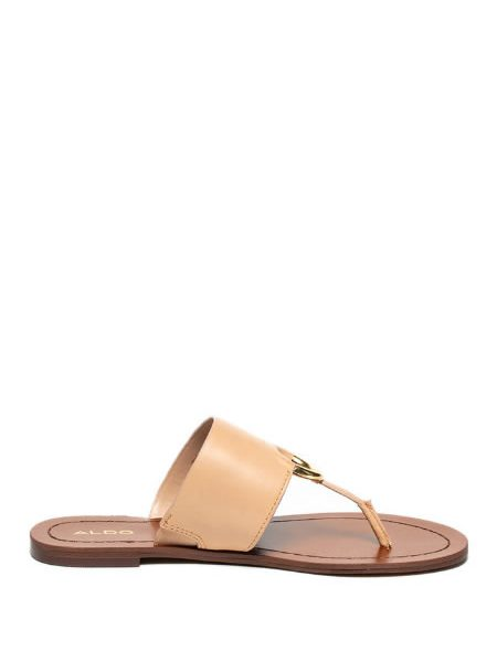 Papuci Piele Bej