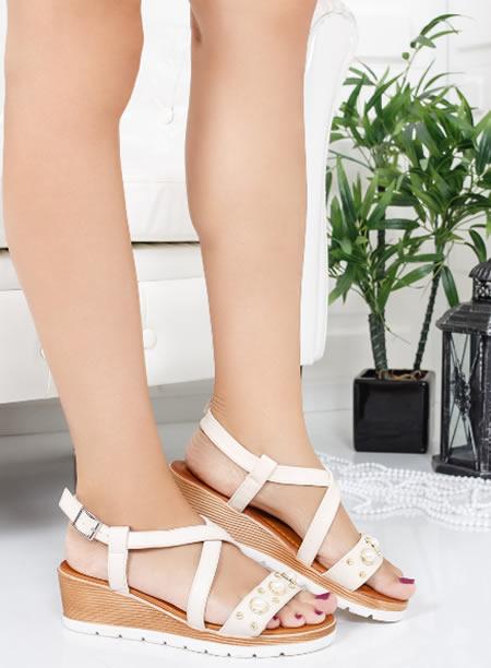 Sandale Albe Cu Platforma Online