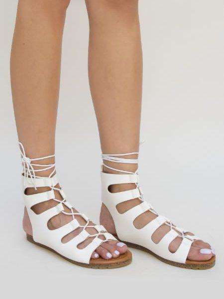 Sandale Albe Gladiator