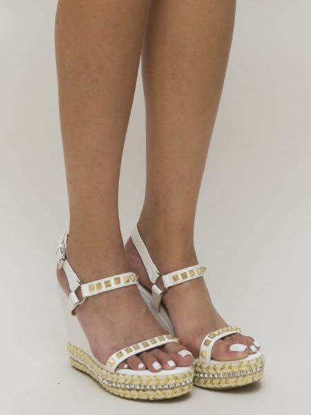 Sandale Albe Platforma