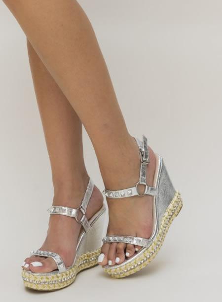 Sandale Cu Platforma Argintii Ieftine
