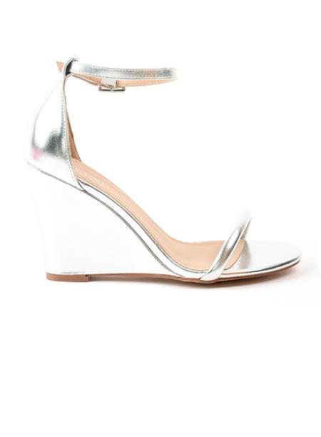 Sandale Cu Platforma Argintii
