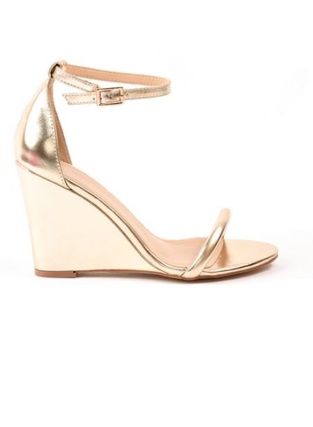 Sandale Cu Platforma Aurii