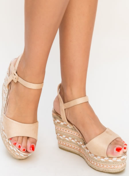 Sandale Cu Platforma Impletita