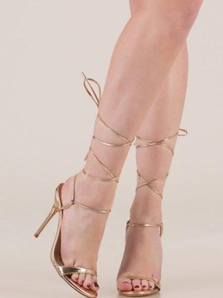 Sandale Cu Siret Aurii