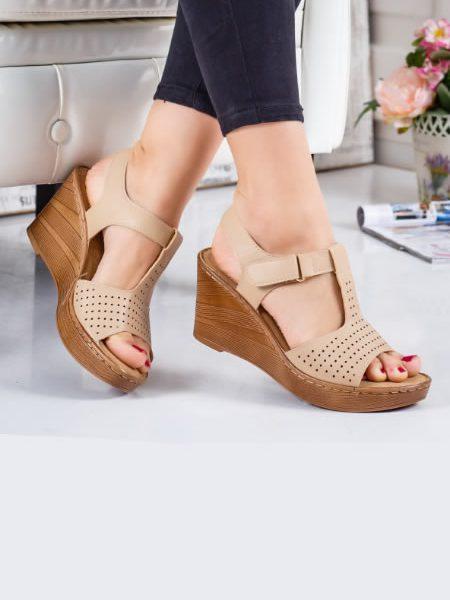 Sandale Cu Talpa Ortopedica Albe Dama