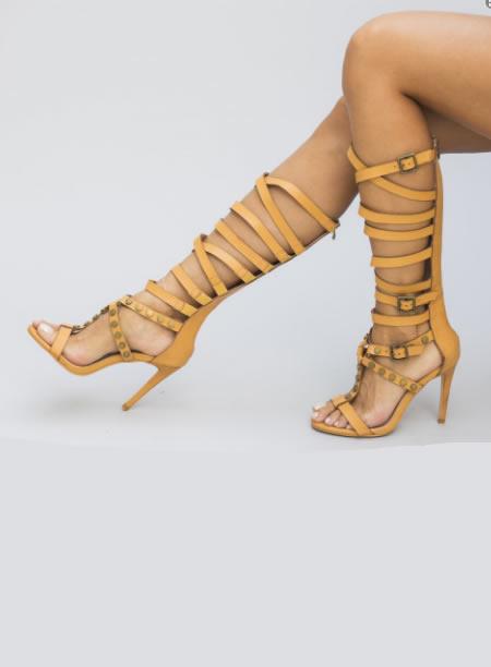 Sandale Cu Toc Romane