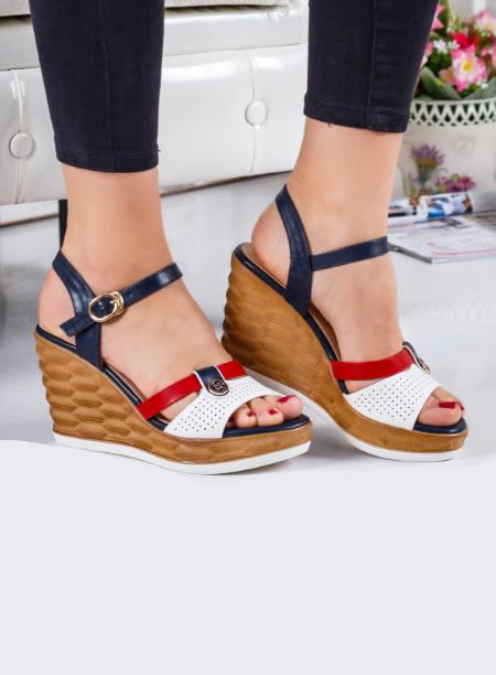 Sandale Dama Cu Platforma Inalta