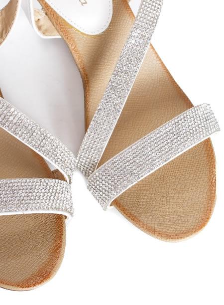 Sandale Dama Cu Platforma Joasa Si Pietre