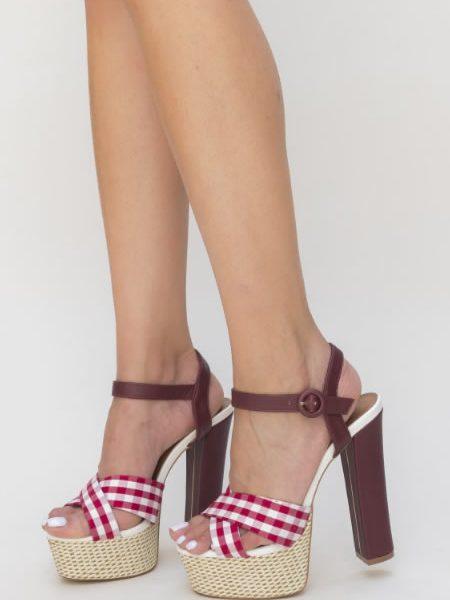 Sandale Dama Cu Toc Gros Retro